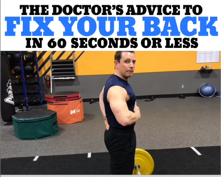 The Doctor's Advice To FIX YOUR BACK In 60 Seconds Or Less