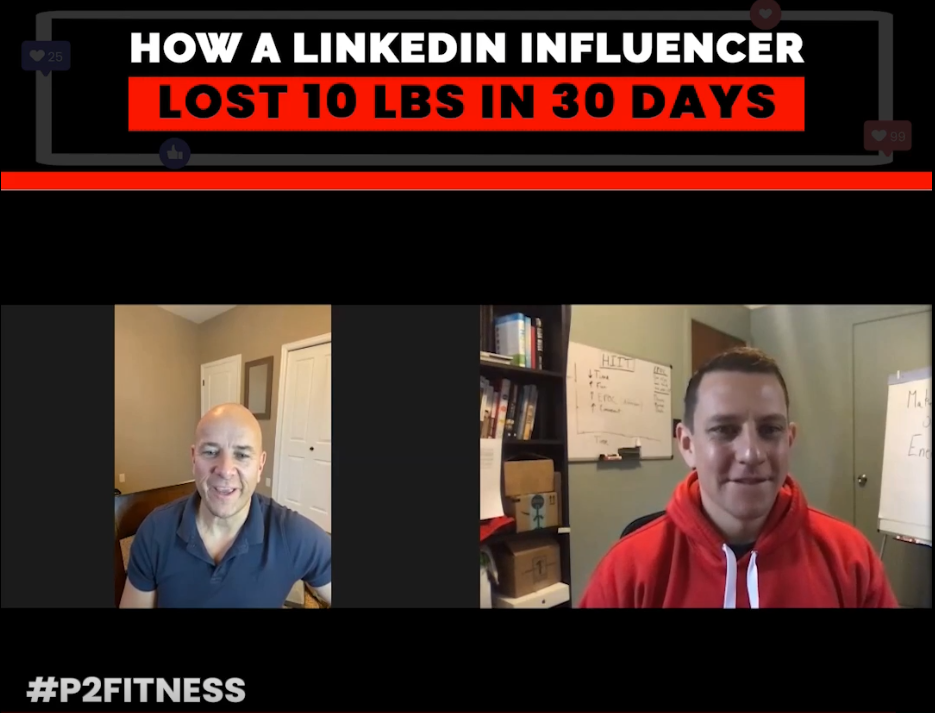 A LinkedIn influencer losing 10lbs in 30 days
